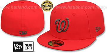 Nationals MLB TEAM-BASIC Fire Red-Charcoal Fitted Hat by New Era