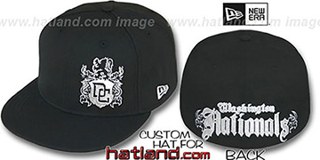 Nationals 'OLD ENGLISH SOUTHPAW' Black Fitted Hat by New Era