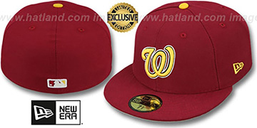 Nationals OPPOSITE-TEAM Burgundy Fitted Hat by New Era