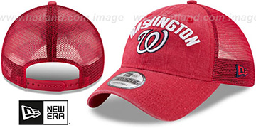 Nationals RUGGED-TEAM TRUCKER SNAPBACK Red Hat by New Era