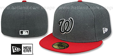Nationals 'SHADER MELT-2' Grey-Red Fitted Hat by New Era