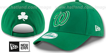 Nationals 'ST PATRICKS DAY' Green Strapback Hat by New Era