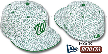 Nationals 'ST PATS FLOCKING' White Fitted Hat by New Era