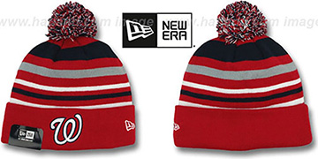 Nationals 'STRIPEOUT' Knit Beanie Hat by New Era
