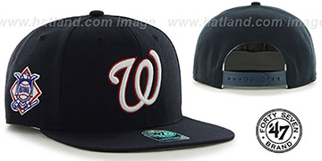Nationals 'SURE-SHOT SNAPBACK' Navy Hat by Twins 47 Brand