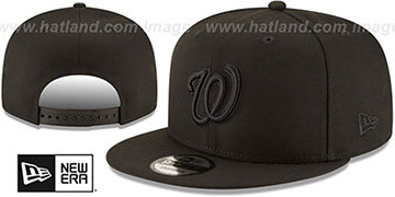 Nationals 'TEAM-BASIC BLACKOUT SNAPBACK' Hat by New Era