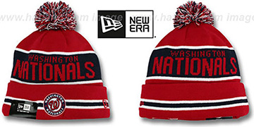 Nationals THE-COACH Red Knit Beanie Hat by New Era