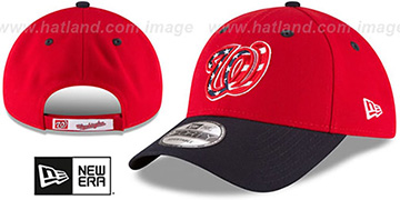 Nationals 'THE-LEAGUE ALTERNATE-3 STRAPBACK' Red-Navy Hat by New Era