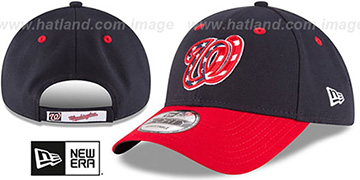 Nationals 'THE-LEAGUE ALTERNATE-4 STRAPBACK' Navy-Red Hat by New Era