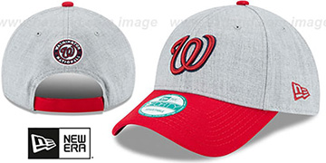 Nationals 'THE-LEAGUE HEATHER STRAPBACK' Grey-Red Hat by New Era