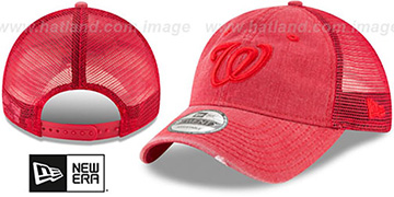 Nationals TONAL-WASHED TRUCKER SNAPBACK Red Hat by New Era