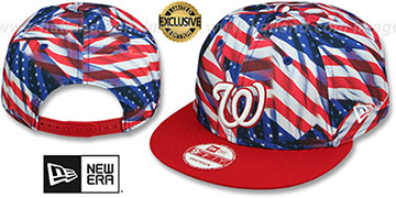 Nationals 'USA WAVING FLAG SNAPBACK' Flag-Red Hat by New Era