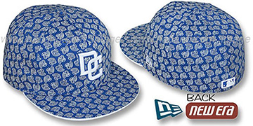 Nationals W 'ALL-OVER FLOCKING' Royal-White Fitted Hat by New Era