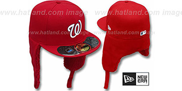 Nationals 'WATER REPELLENT DOGEAR' Red Fitted Hat by New Era