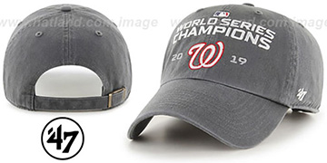 Nationals WORLD SERIES CHAMPIONS CLEAN-UP STRAPBACK Grey Hat by 47 Brand