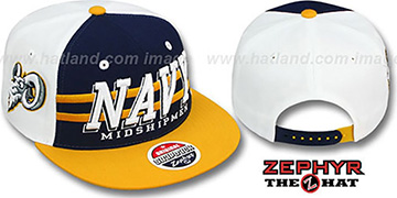 Navy 2T SUPERSONIC SNAPBACK Navy-Gold Hat by Zephyr