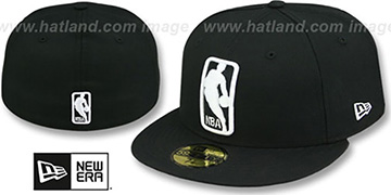 NBA 'LOGOMAN' Black-White Hat by New Era