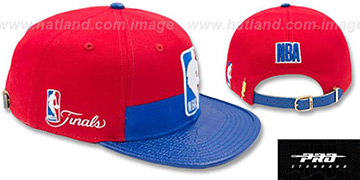 NBA Logoman HORIZON STRAPBACK Red-Royal Hat by Pro Standard