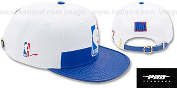 NBA Logoman HORIZON STRAPBACK White-Royal Hat by Pro Standard