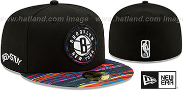 Nets 19-20 CITY-SERIES ALTERNATE Black-Multi Fitted Hat by New Era