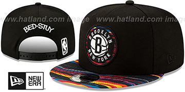 Nets 19-20 CITY-SERIES ALTERNATE SNAPBACK Black-Multi Hat by New Era