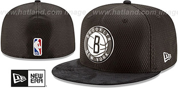 Nets 2017 ONCOURT DRAFT Black Fitted Hat by New Era
