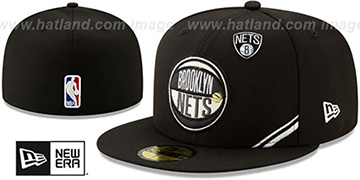 Nets 2019 NBA DRAFT Black Fitted Hat by New Era