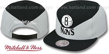 Nets 'AMPLIFY DIAMOND SNAPBACK' Black-Grey Hat by Mitchell and Ness