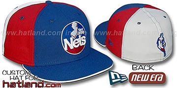 Nets BACK INSIDER PINWHEEL Royal-Red-White Fitted Hat