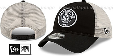 Nets ESTABLISHED CIRCLE TRUCKER SNAPBACK Hat by New Era