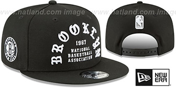 Nets 'GOTHIC-ARCH SNAPBACK' Black Hat by New Era