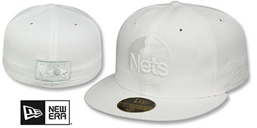 Nets 'HARDWOOD FADEOUT' White Fitted Hat by New Era