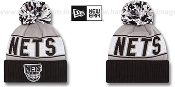 Nets HWC 'REP-UR-TEAM' Knit Beanie Hat by New Era
