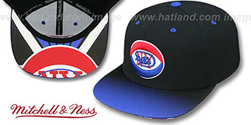 Nets 'HWC STOP-ON-A-DIME SNAPBACK' Black-Royal Hat by Mitchell and Ness