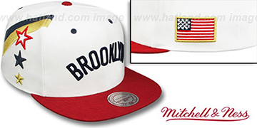Nets 'INDEPENDENCE SNAPBACK' Hat by Mitchell and Ness