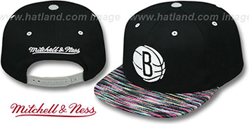 Nets 'KNIT-WEAVE SNAPBACK' Black-Multi Hat by Mitchell and Ness