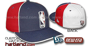 Nets LOGOMAN-2 Navy-Red-White Fitted Hat by New Era