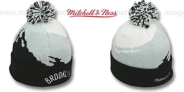 Nets PAINTBRUSH BEANIE by Mitchell and Ness