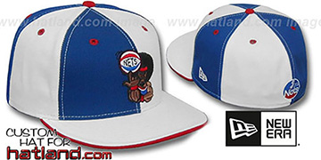 Nets RETRO MAN PINWHEEL Royal-White Fitted Hat