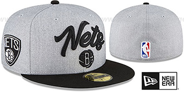 Nets ROPE STITCH DRAFT Grey-Black Fitted Hat by New Era
