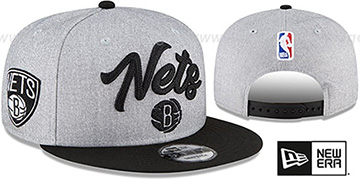 Nets ROPE STITCH DRAFT SNAPBACK Grey-Black Hat by New Era