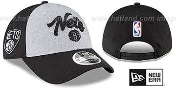 Nets ROPE STITCH DRAFT STRETCH SNAPBACK Grey-Black Hat by New Era