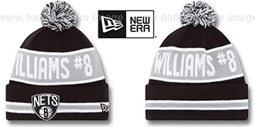 Nets THE-COACH WILLIAMS 8 Black Knit Beanie Hat by New Era