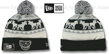 Nets 'THE-MOOSER' Knit Beanie Hat by New Era