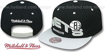Nets 'THE-WAVE SNAPBACK' Black-Grey Hat by Mitchell and Ness