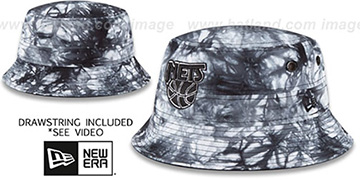Nets 'TYE-DYE ZONE' Bucket Hat by New Era