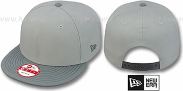 New Era  2T BLANK SNAPBACK Grey-Grey Adjustable Hat