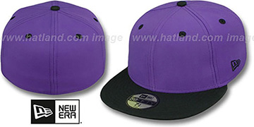 New Era '2T 59FIFTY-BLANK 2' Purple-Black Fitted Hat