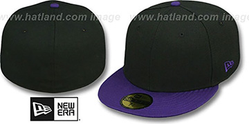 New Era '2T 59FIFTY-BLANK' Black-Purple Fitted Hat
