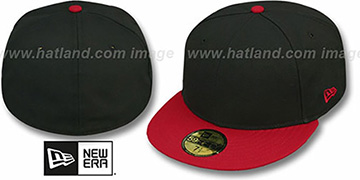 New Era 2T 59FIFTY-BLANK Black-Red Fitted Hat